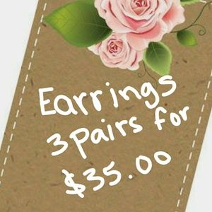 🌹 3 Pairs For $35.00 Earrings SALE*